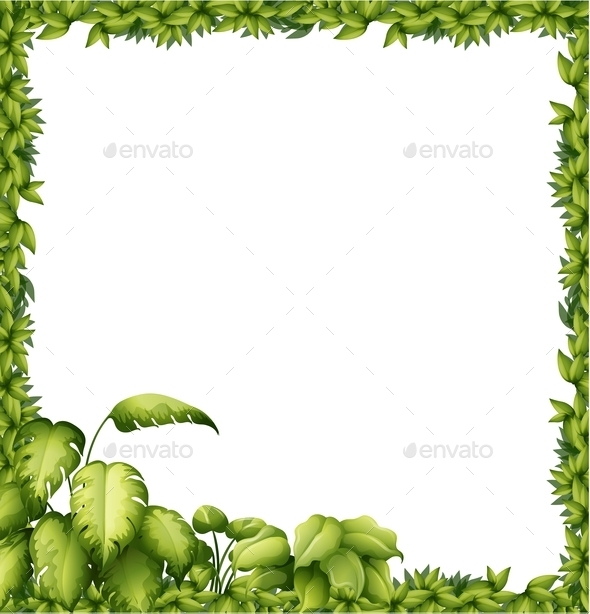 Leaves Frame By Interactimages Graphicriver