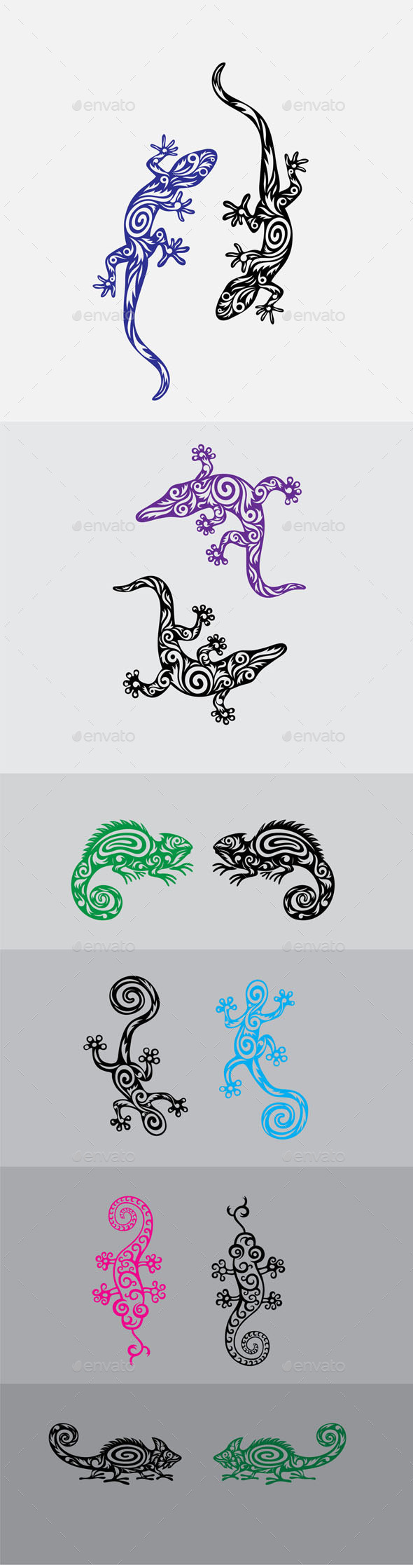 Lizard Ornament Set - Miscellaneous Characters