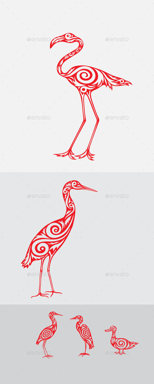 Bird Ornament Set - Miscellaneous Characters