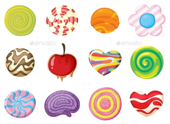 Various Sweets - Food Objects