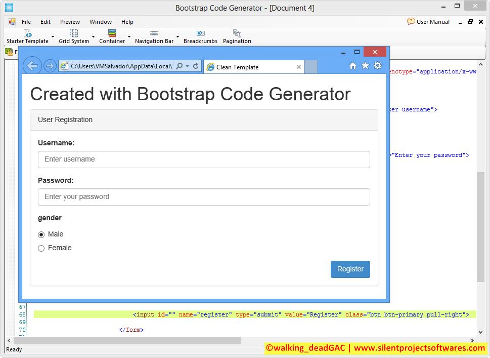 Bootstrap Code Generator By Jhai Codecanyon