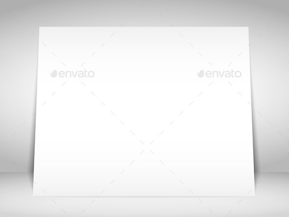 Blank White Placard - Objects Vectors