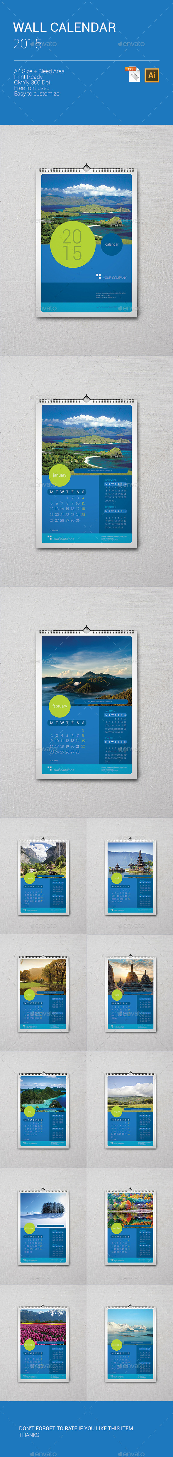 Wall Calendar 2015 - Calendars Stationery