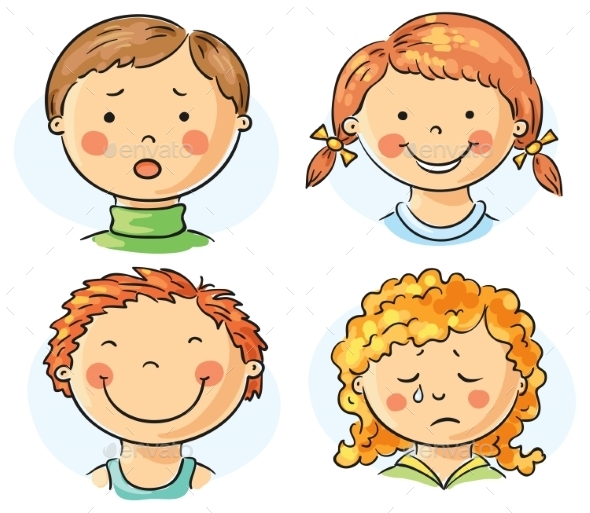 Kids Faces - People Characters