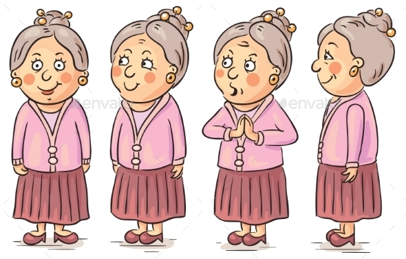 Cartoon Grandmother  - People Characters