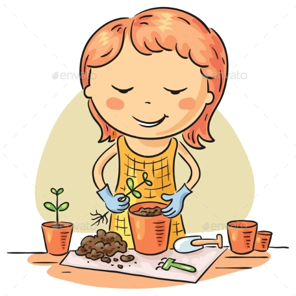 Gardening Hobby - People Characters