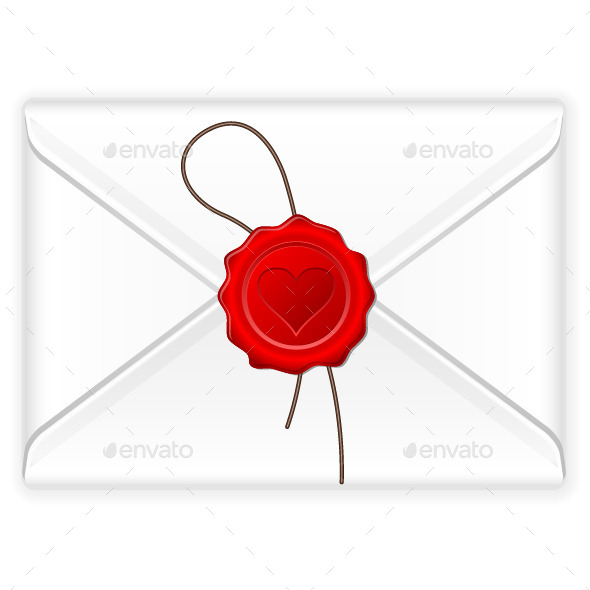 Envelope Love Stamp - Objects Vectors