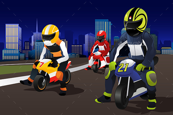People Riding Motorcycle - Sports/Activity Conceptual