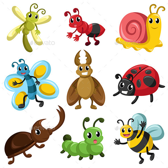 Bug Icons - Animals Characters