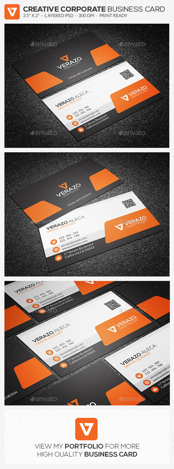 Creative Corporate Business Card 65 - Corporate Business Cards