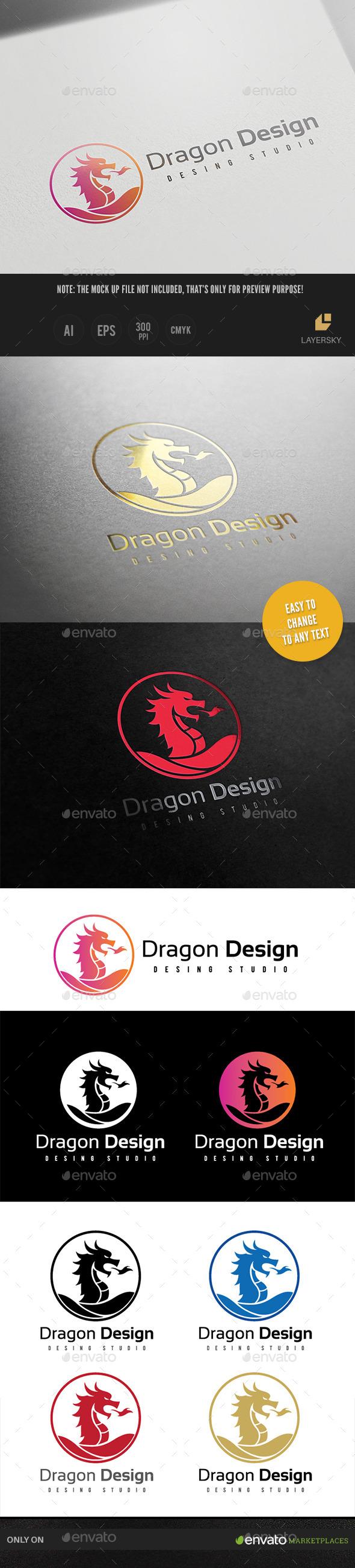 Dragon Design - Crests Logo Templates
