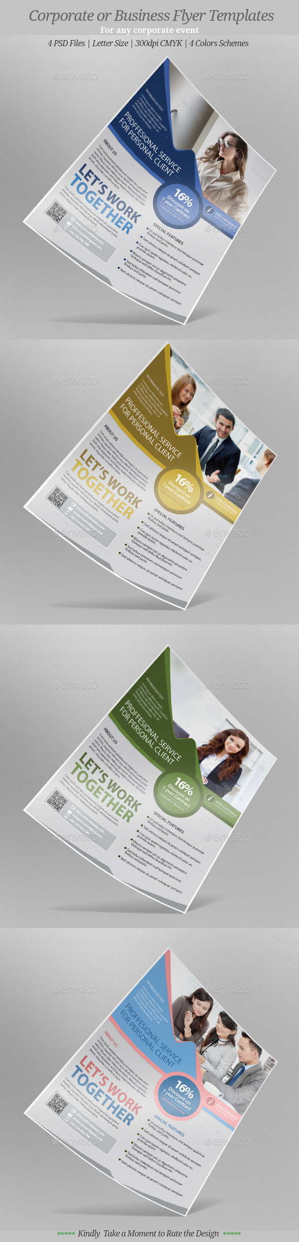 Corporate or Business Flyer Templates - Flyers Print Templates