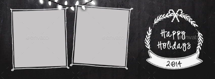 Christmas Chalkboard Facebook Covers by nibgraphics   GraphicRiver