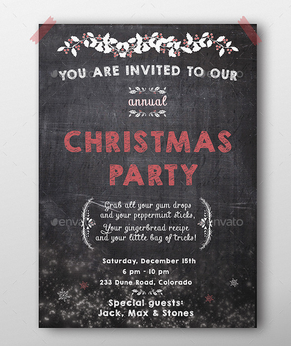 Christmas Party Invitation Flyer - Holidays Events
