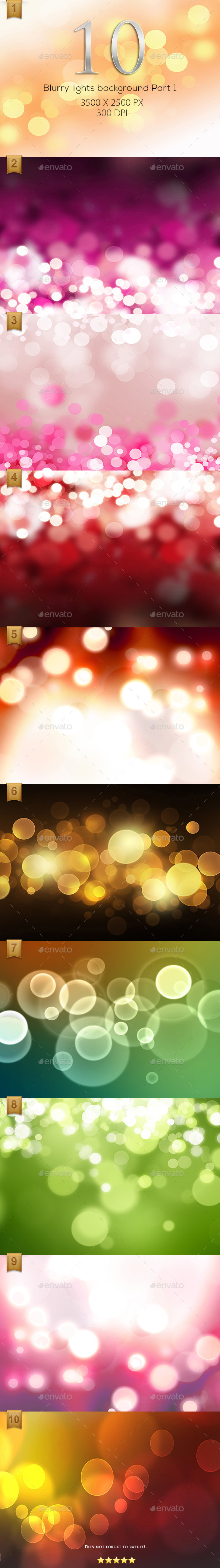 10 Blurry lights background High Resolution Part 1 - Backgrounds Graphics