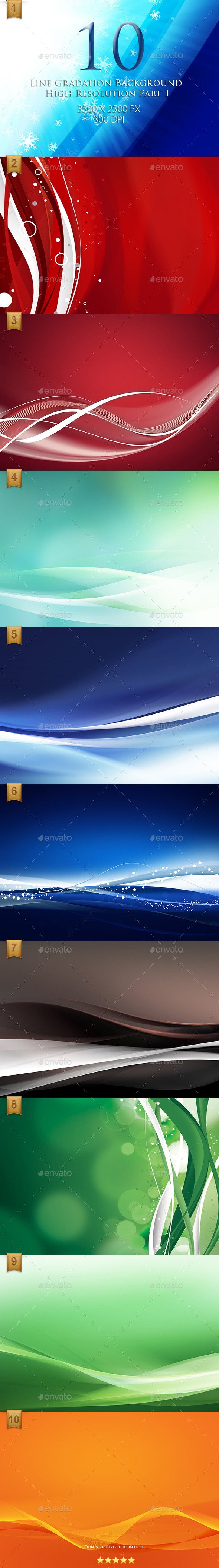 10 Line Gradation Background High Resolution - Abstract Backgrounds