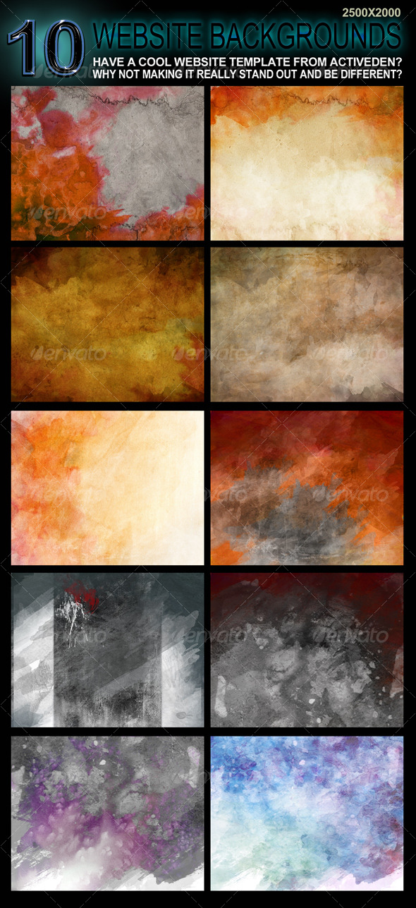 10 Original Website Backgrounds - 2500x2000 - Backgrounds Graphics
