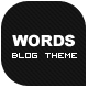 Words - Personal Blog Theme - ThemeForest Item for Sale