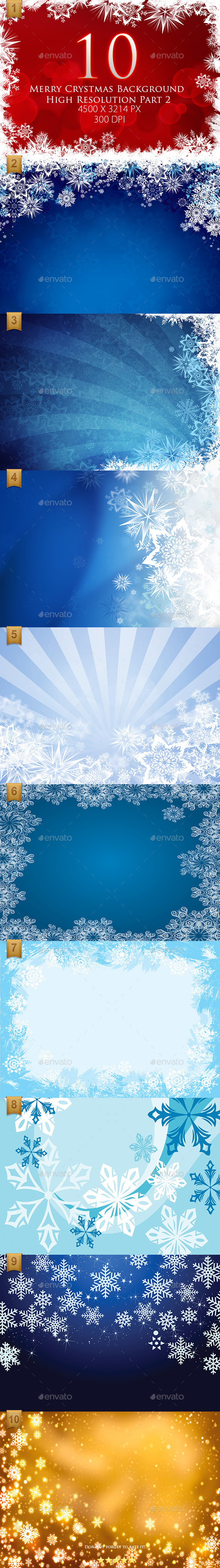 10 Merry Christmas Background High Resolution Part2 - Backgrounds Graphics