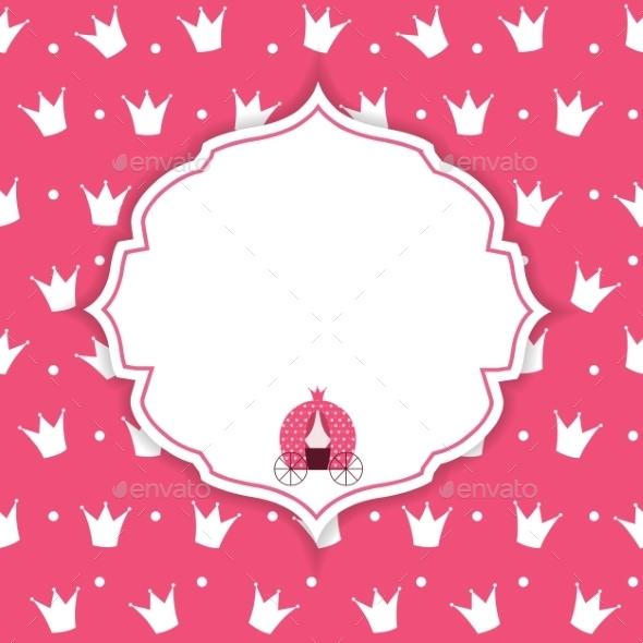 Princess Crown  Background Vector Illustration. - Backgrounds Decorative