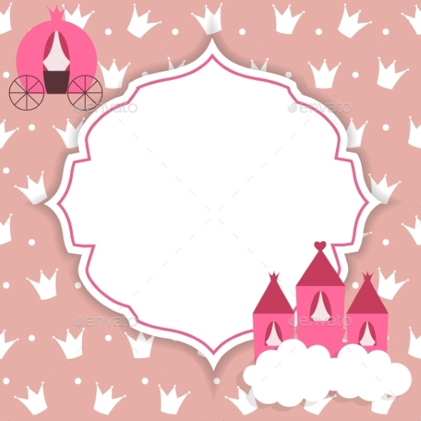 Princess Abstract  Background Vector Illustration. - Backgrounds Decorative