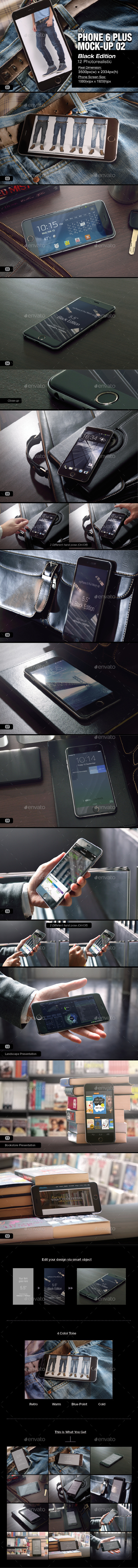 myPhone 6 Plus Mock-up 02 - Mobile Displays