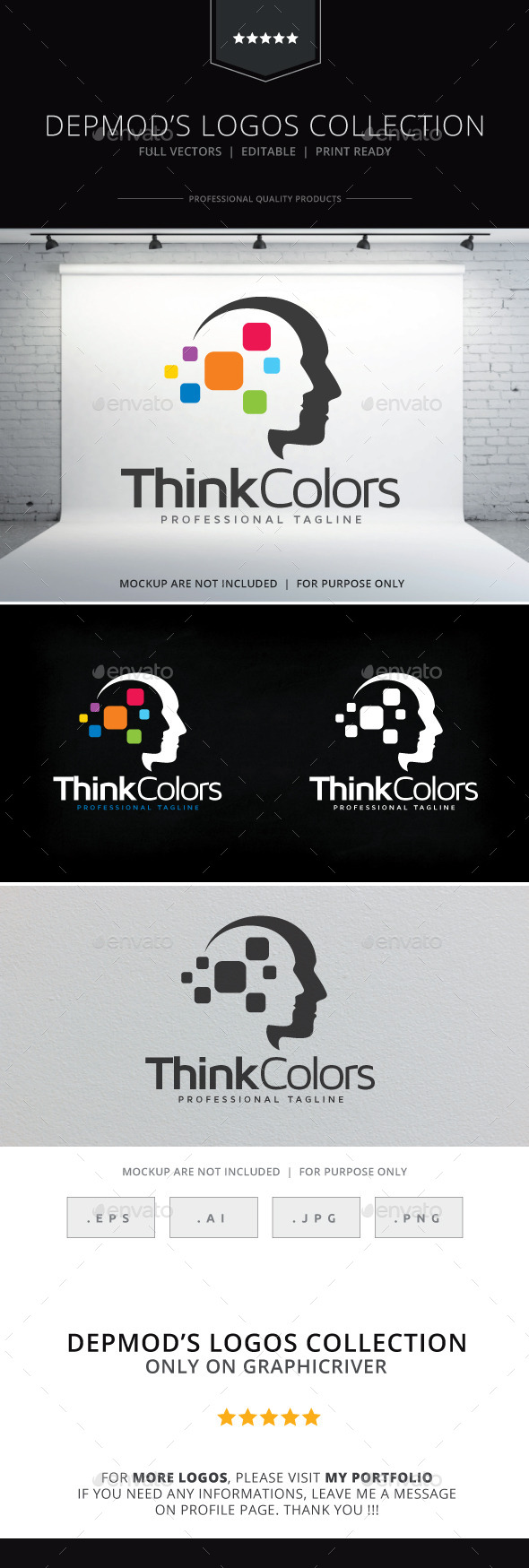 Think Colors Logo - Humans Logo Templates