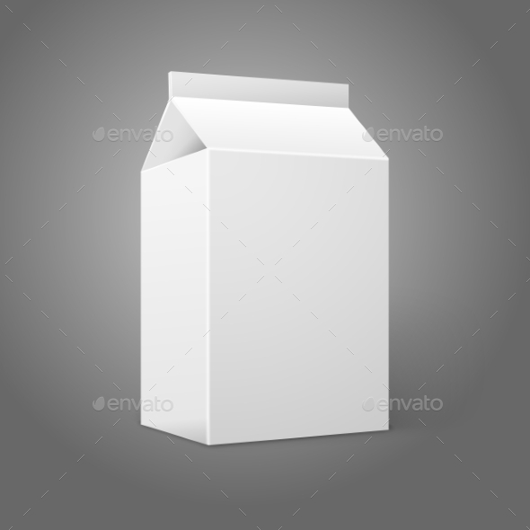 Blank Milk Carton - Man-made Objects Objects