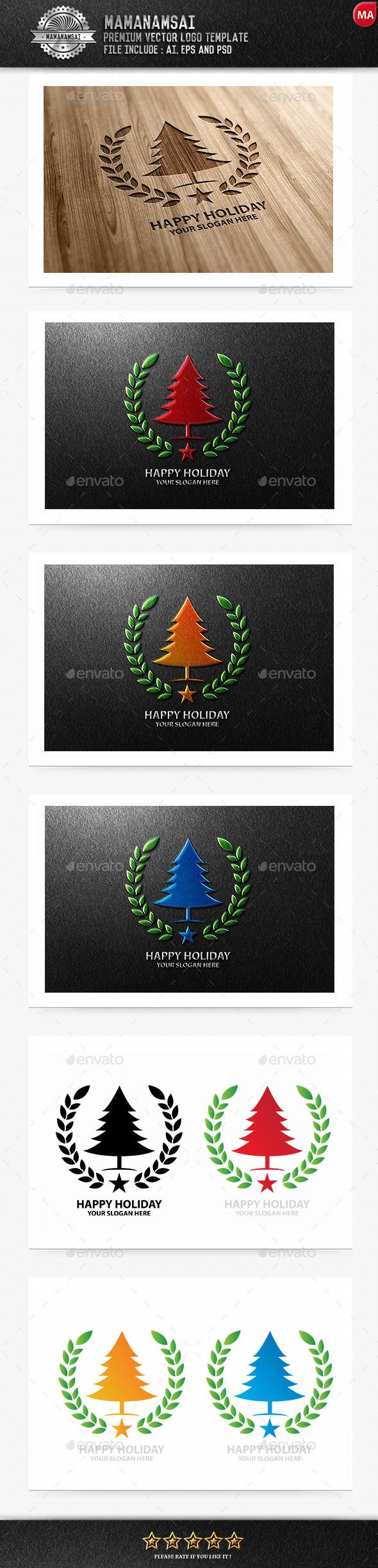 Happy Holiday Logo - Logo Templates