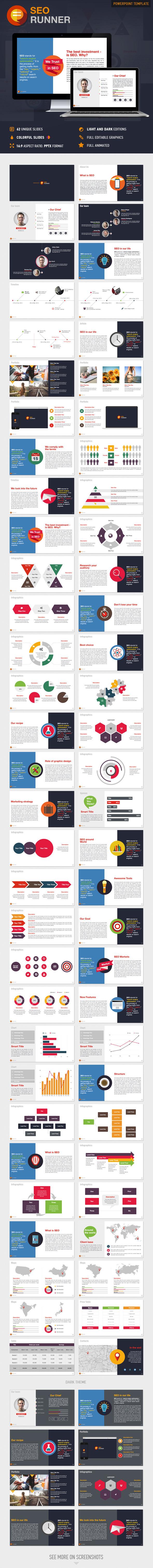 SEO Runner PowerPoint Presentation Template - Business PowerPoint Templates