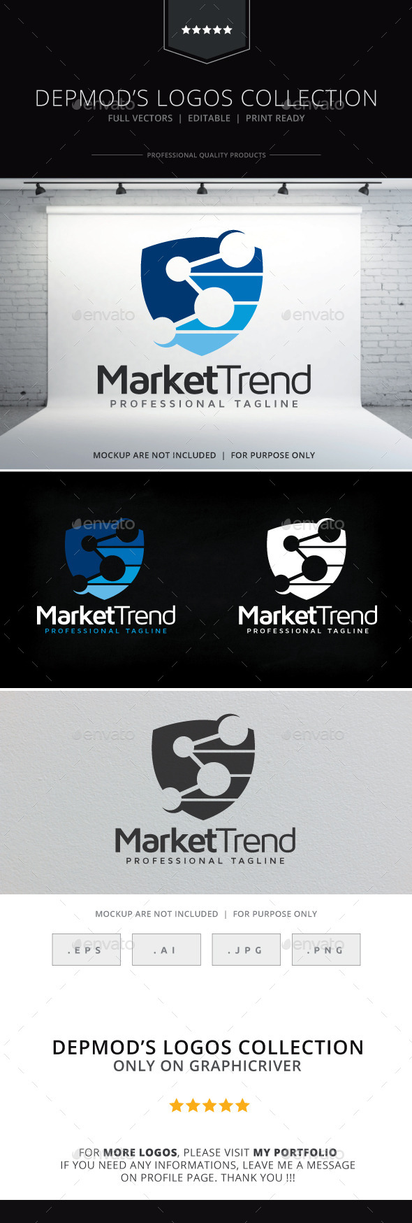 Market Trend Logo - Symbols Logo Templates