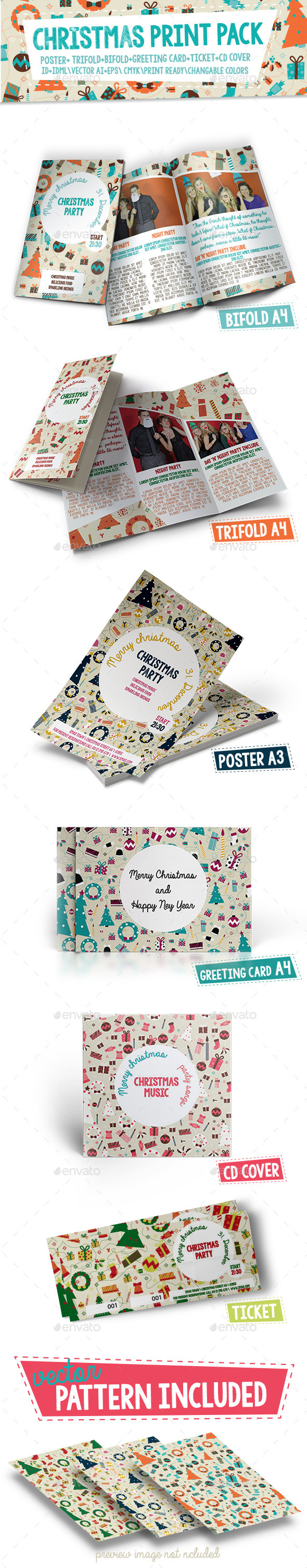 Christmas Print Pack - Stationery Print Templates
