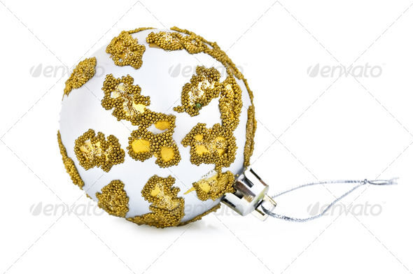 Christmas silver ball - Stock Photo - Images