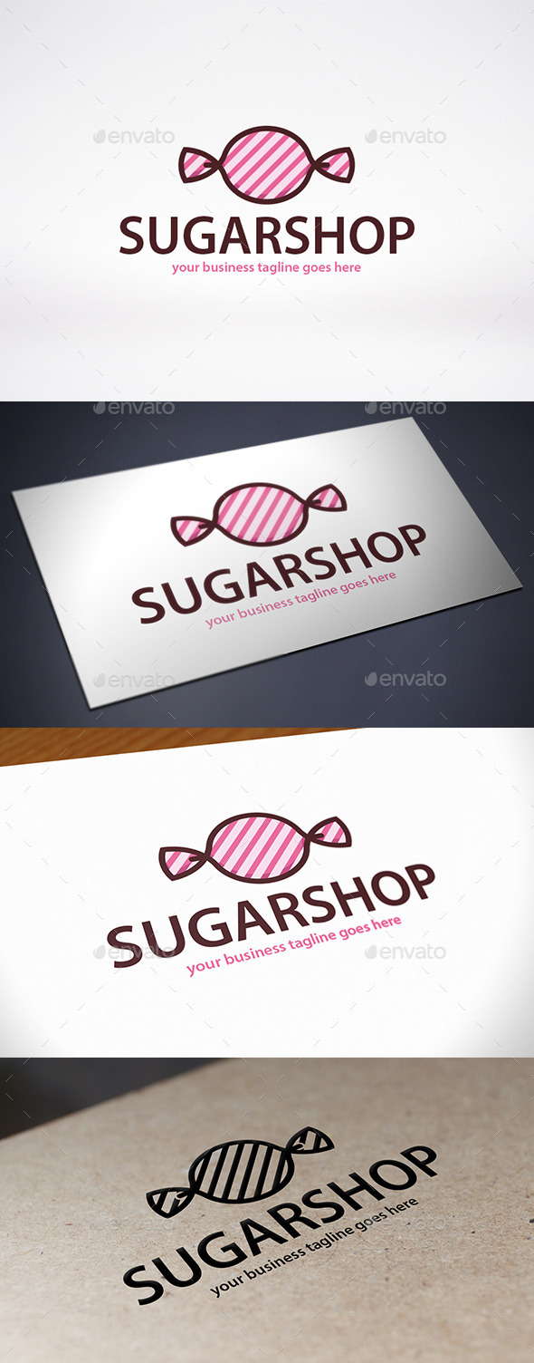 Candy Shop Logo Template - Food Logo Templates