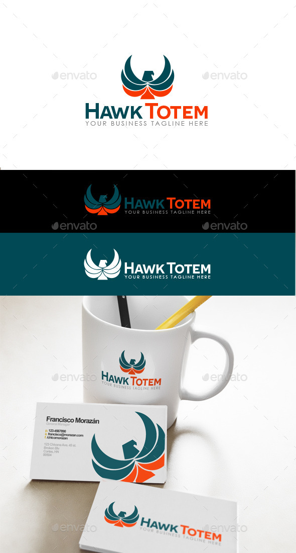 Hawk Totem Logo - Animals Logo Templates