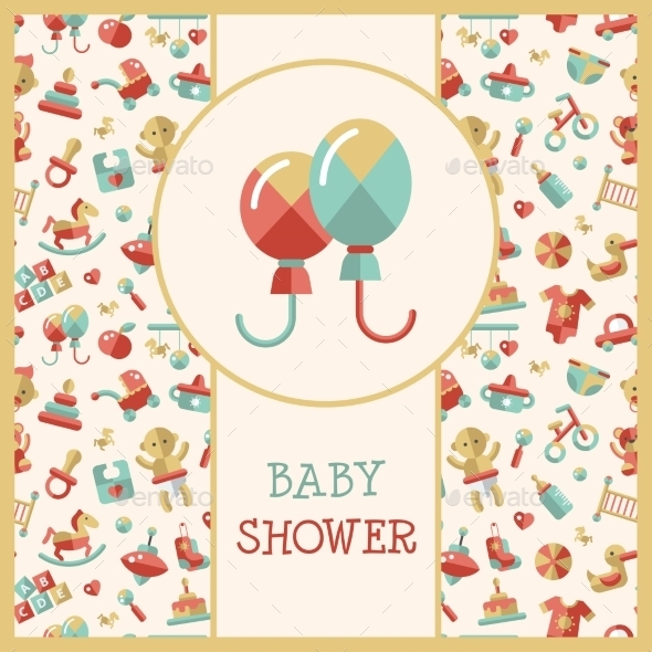 Baby Shower Template - Backgrounds Decorative