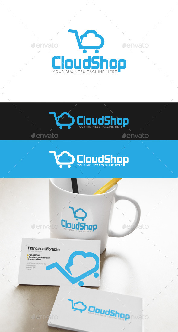 Cloud Shop Logo - Abstract Logo Templates