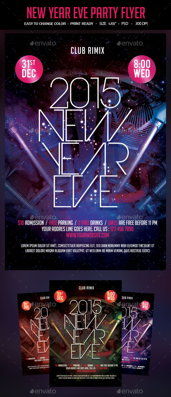New Year Eve Party Flyer - Events Flyers