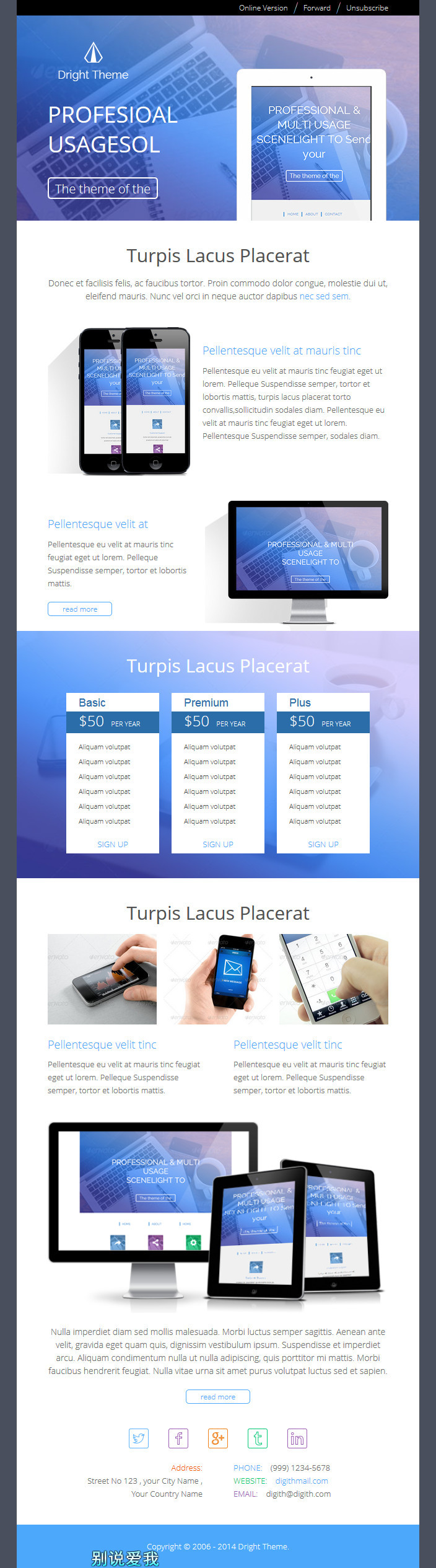 Digit Theme - Responsive Email Template + Builder by digith ...