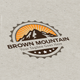 Brown Mountain Logo - GraphicRiver Item for Sale