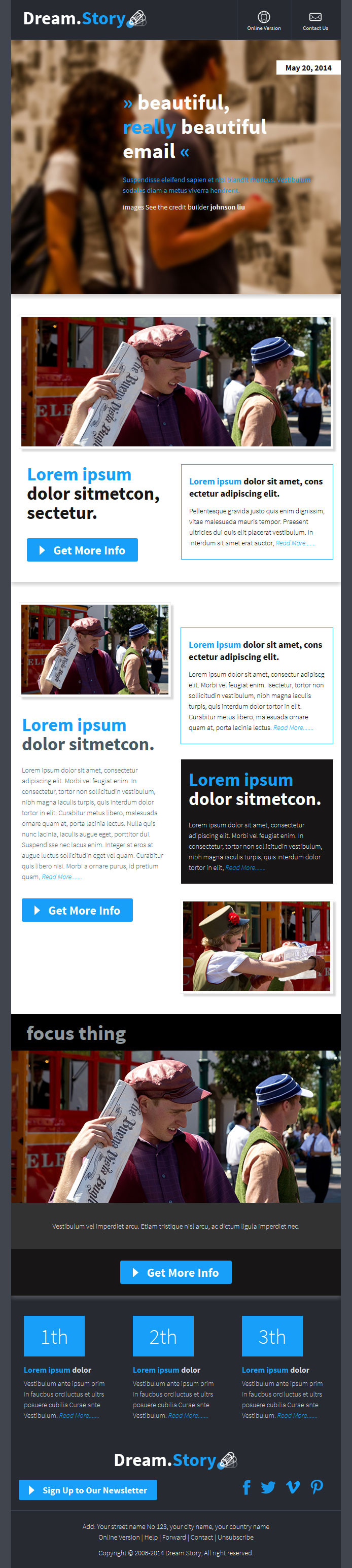 Dreamory responsive email template builder by digith story responsive email template builder email templates marketing 01previewg 02previewg pronofoot35fo Image collections