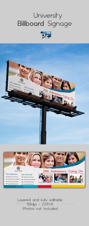University Billboard Signage - Signage Print Templates