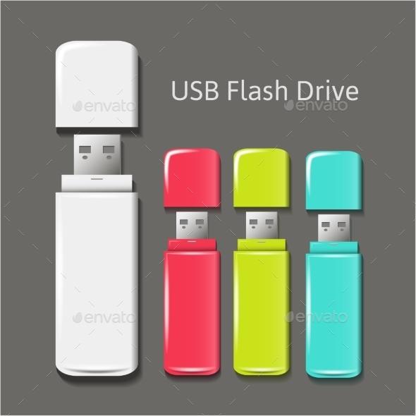 Universal Flash Drive - Objects Vectors