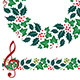 Christmas Music Wreath and Seamless Border - GraphicRiver Item for Sale