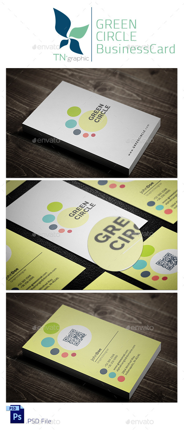 Green Circle BusinessCard - Creative Business Cards