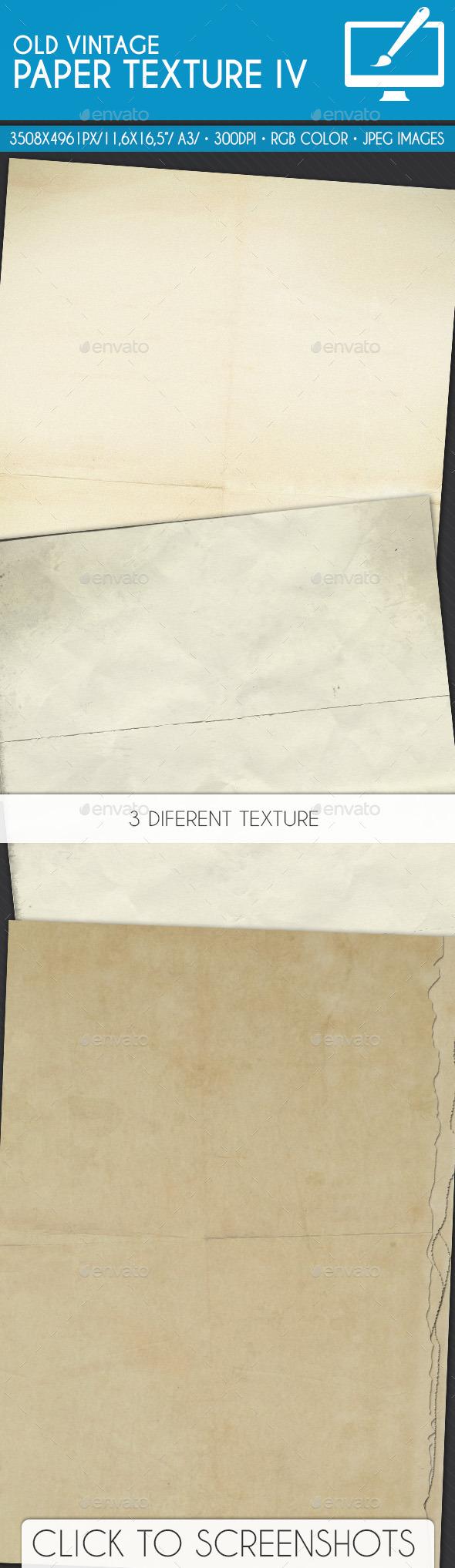 Old Vintage Paper Texture IV - Patterns Backgrounds