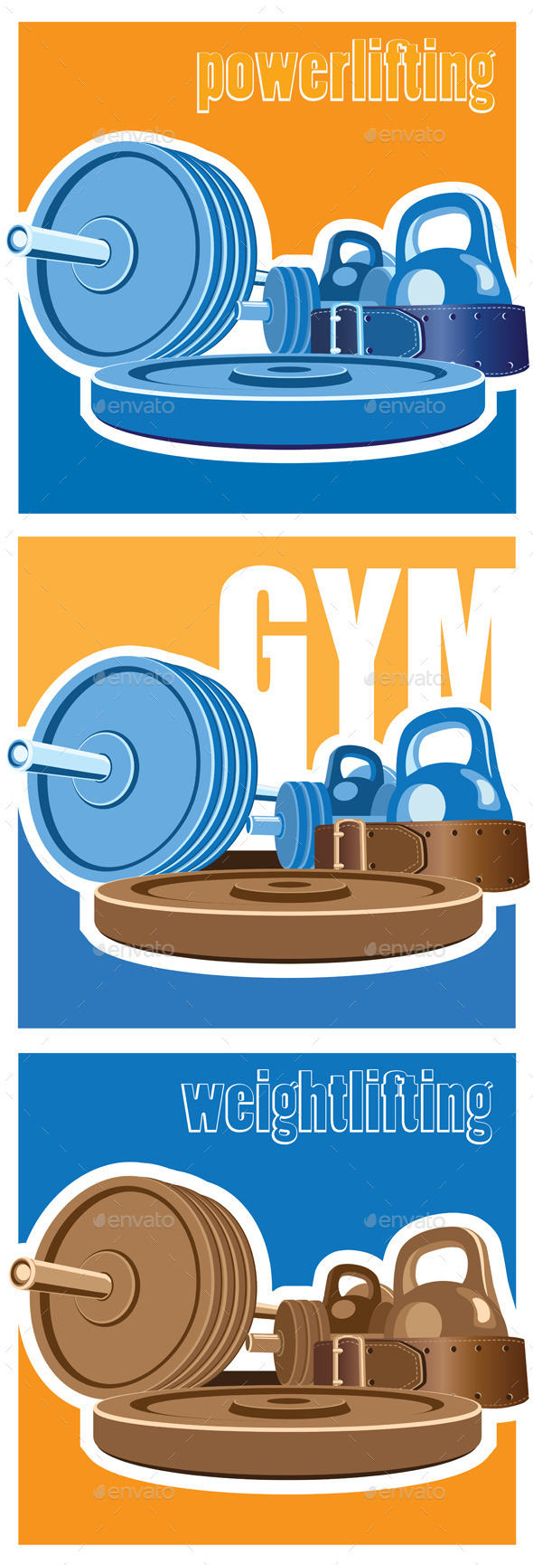 Gym Collection - Conceptual Vectors