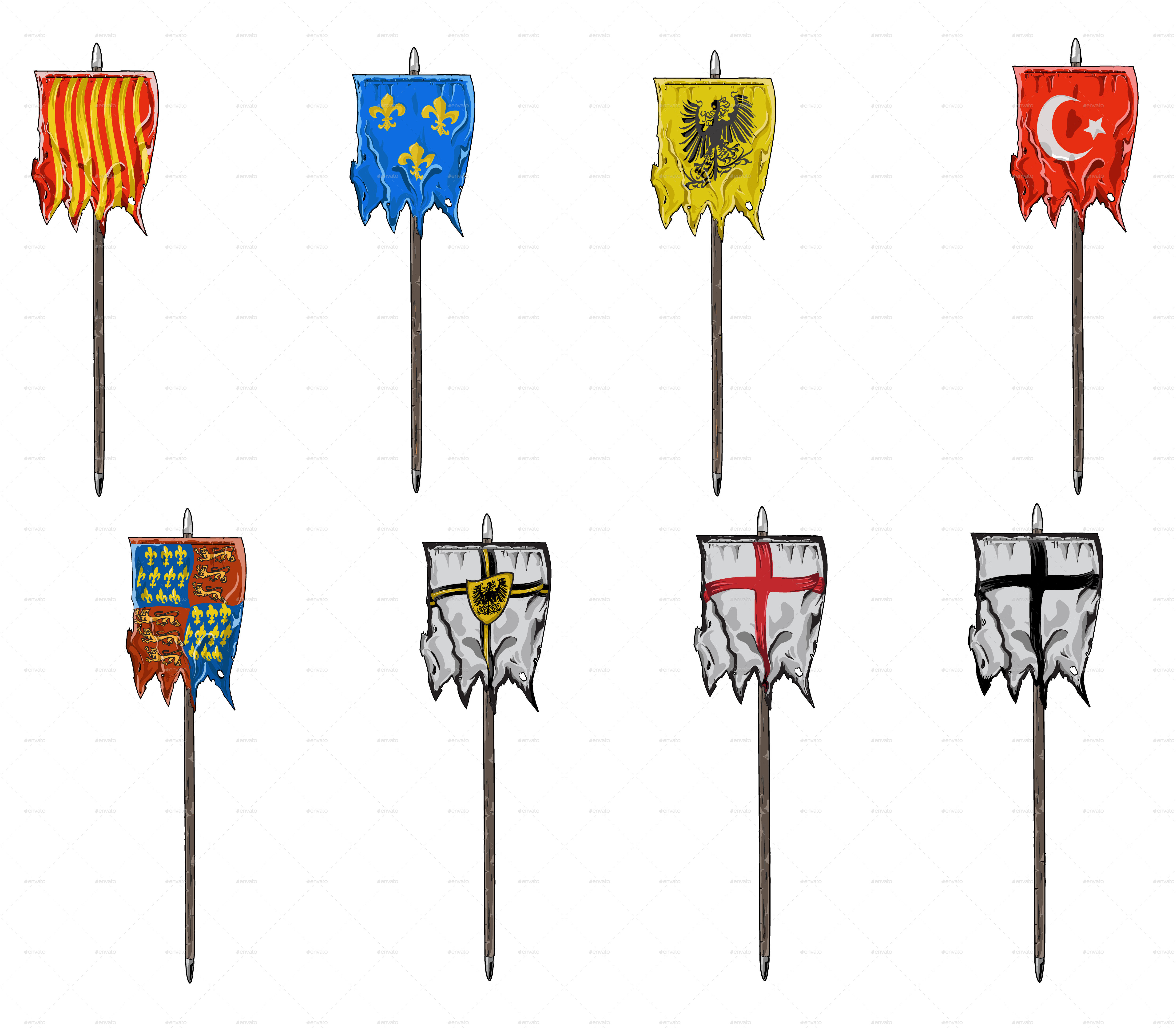 Medieval Flags By Flinstone123 Graphicriver