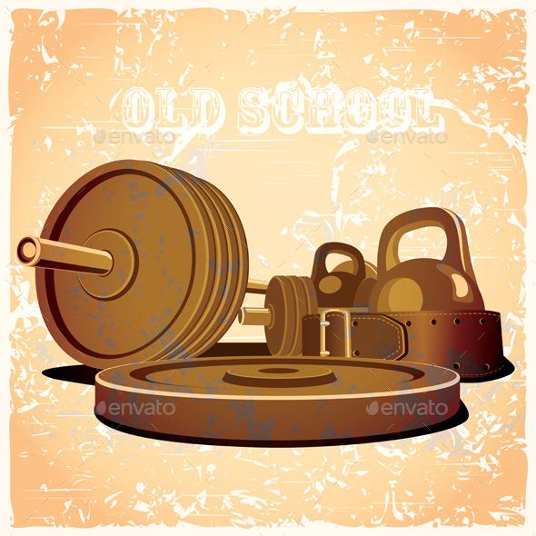 Old School Gym Set - Sports/Activity Conceptual