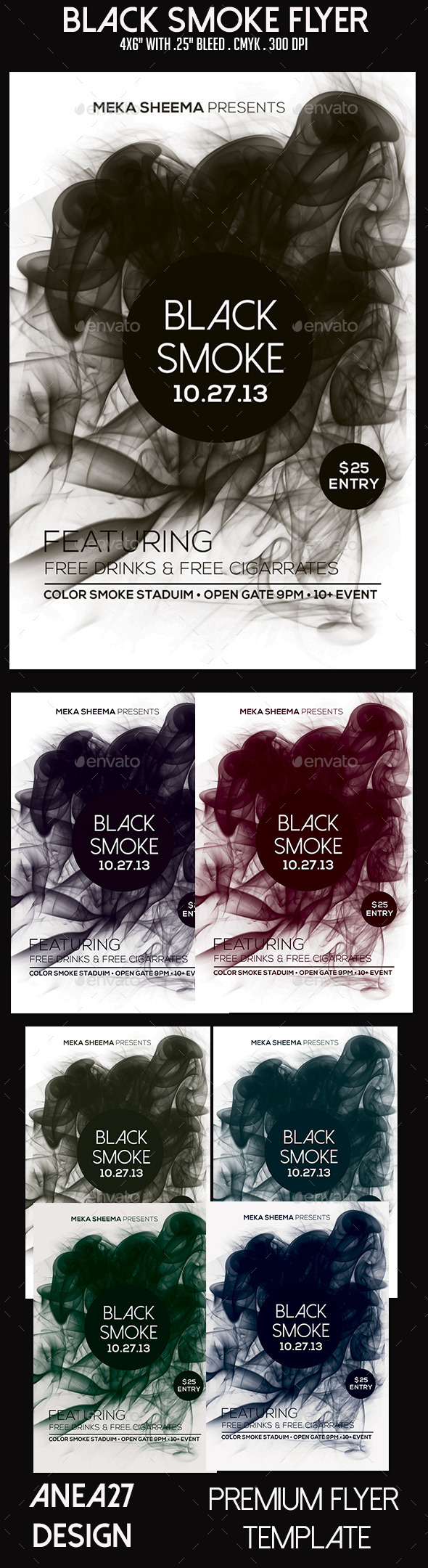 Black Smoke Flyer - Clubs & Parties Events
